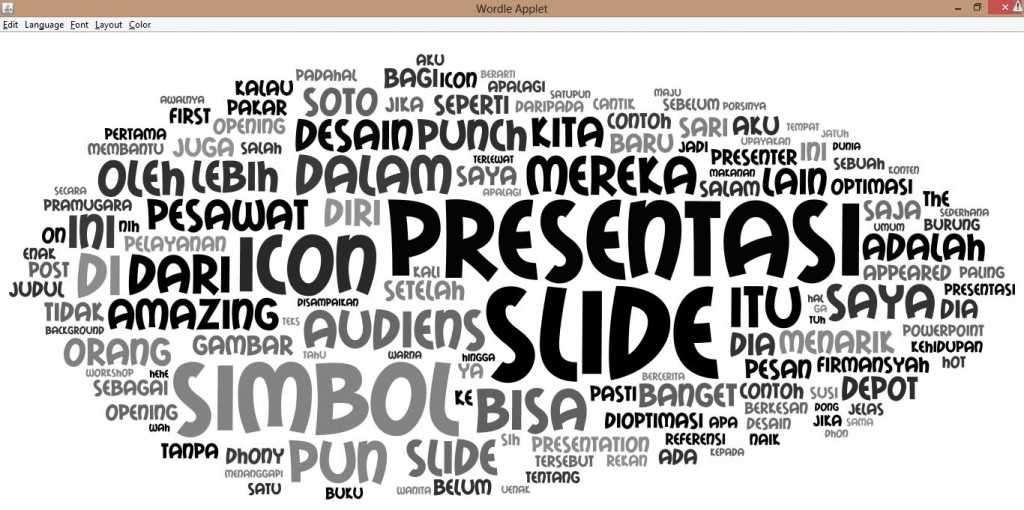 wordcloud dhony firmansyah, pakar slide