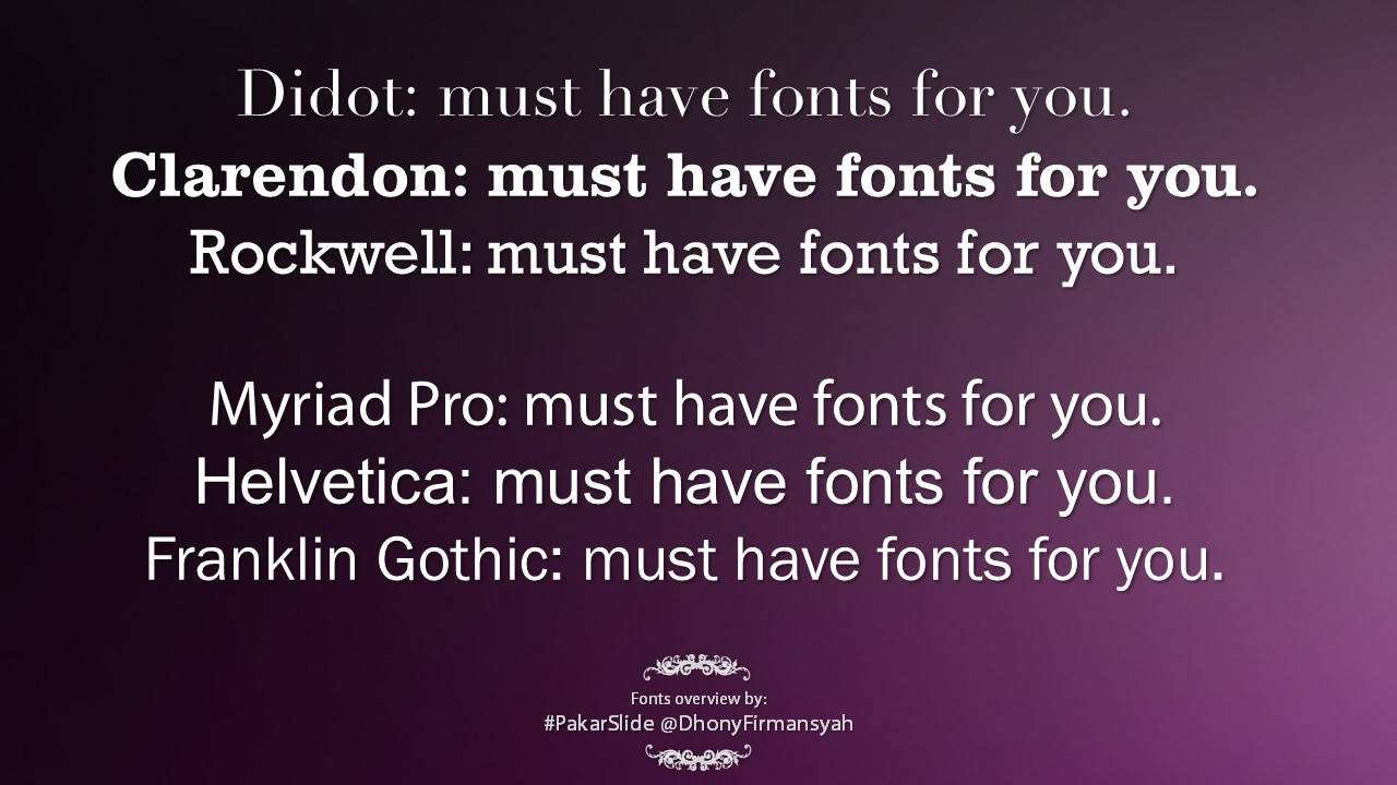 Fonts overview