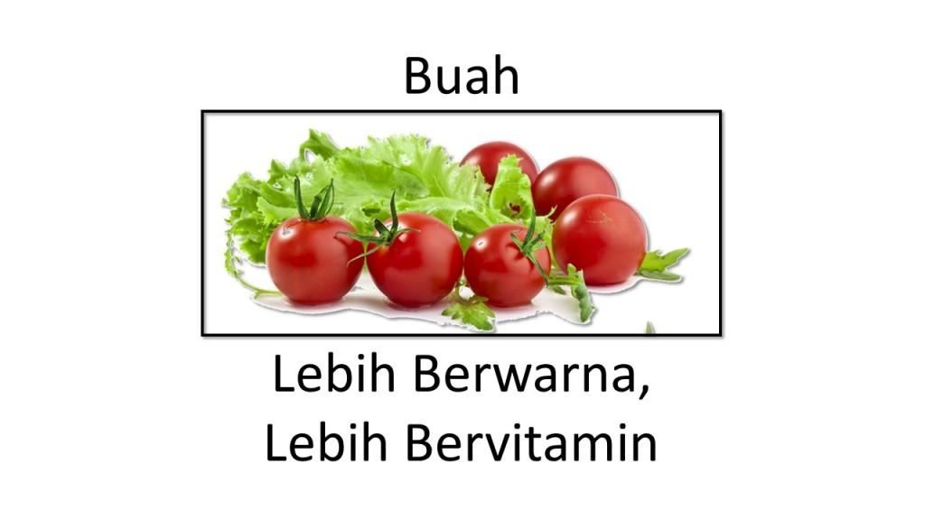 Slide ini memiliki gambar tomat dengan empat sudut.